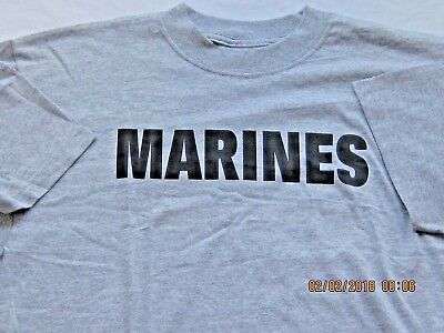 Solid Grey T-shirts Marine logo by 7.62 design Tee's Workout -