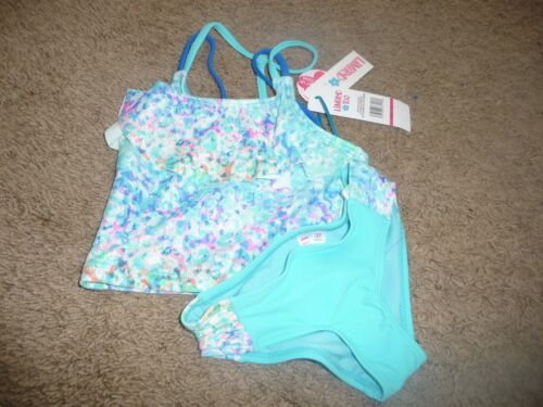 NEW NWT LIMITED TOO GIRLS SIZE 3T PRETTY TEAL TANKINI BATHING SUIT