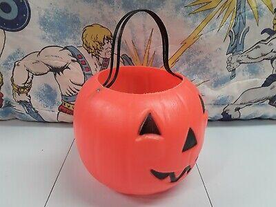 Rare Halloween Empire plastic Trick Or Treat Pail double handle Pumpkin Bucket