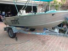 13 ft quintrex dart 15 hp yamaha and redco trailer Beenleigh Logan Area Preview