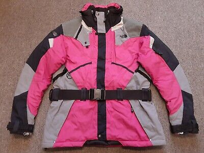 The North Face Steep Tech Nylon Puffer Insulated Snow Ski Coat Jacket Pink Large
