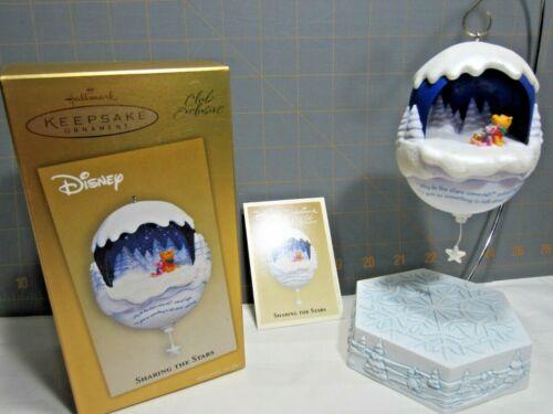 """2004 Hallmark QXC4004 """"Sharing the Stars"""" Winnie the Pooh Ornament"""