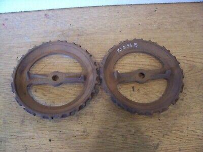 1 Vintage Cast Iron Jd Planter Plate Y2636b Lot D-e