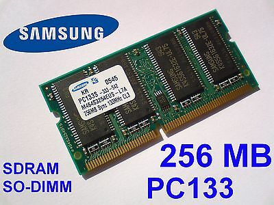256MB PC133 SDRAM CL3 SO-DIMM 144pin 133MHz NOTEBOOK LAPTOP SODIMM RAM SPEICHER - Pc133 Sdram 144 Pin Laptop