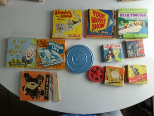 Vintage Lot of Movie Films 8mm and Super 8mm Films Castle Films & More