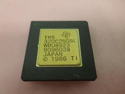 Tms 320c25gbl Wbu8923 9096028 Rare Texas Instruments 16 Bit Processor Gold
