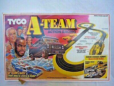 VINTAGE 1983 TYCO  A TEAM ACTION RACING TRACK IN BOX