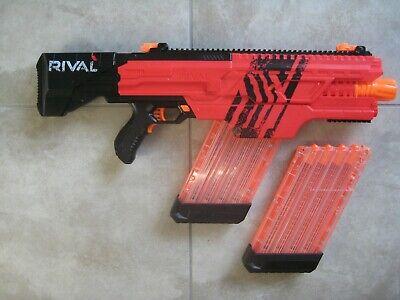 Nerf Rival Khaos MXVI 4000 Blaster Gun + Extra Magazine Clip USED; NO Rounds