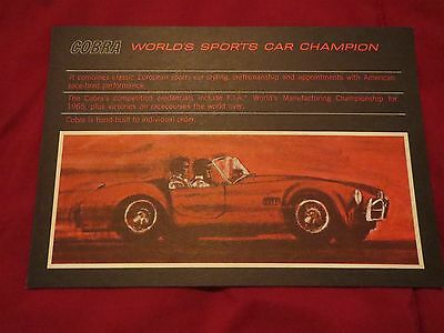 1967 SHELBY COBRA WORLDS SPORTS CAR CHAMPION ORIGINAL DEALER SALES BROCHURE RARE