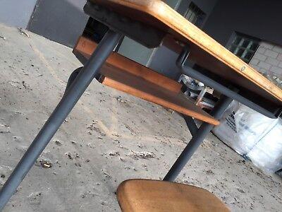 Kinderholztisch Holz Schultisch vintage 50er 60er Jahre Holztisch Kindertisch