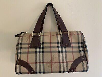 Pre-Owned: Burberry Haymarket Handbag