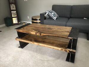 Custom I-Beam coffee table