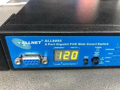 Allnet ALL8895 8 Port Gigabit Switch mit PoE