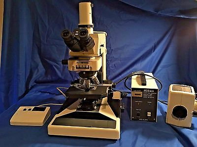 Nikon Microphot Research Grade Upright Bf Phase Fluorescence Microscope