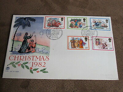 GB Stamps / Royal Mail First day cover - Christmas 1982 - Songs & Hymns ()