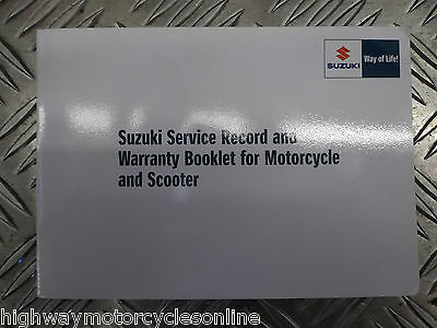 SUZUKI GSXR GSX-R 600 750 1000 ALL MODELS GENUINE SERVICE BOOK NEW BLANK