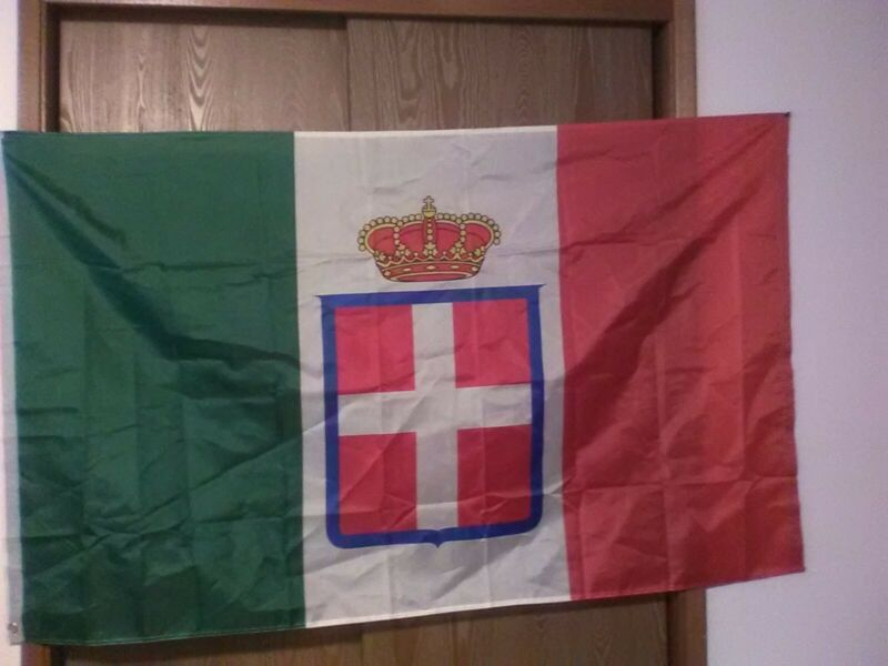 Italian Flag of Italy 1861-1946 crowned Ensign 3X5ft