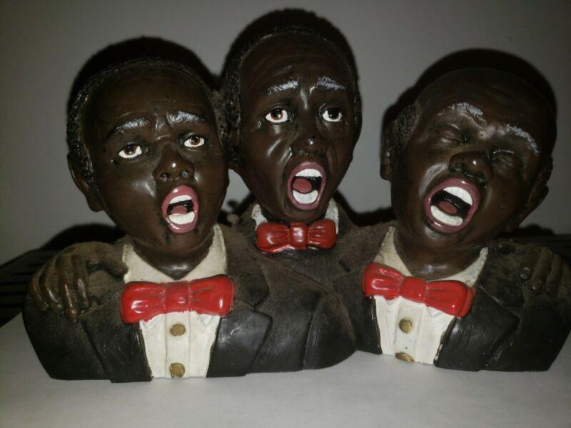 Black Figurine Sculpture Three Men Jazz Musician
