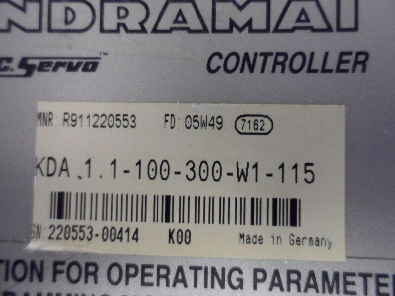 Indramat Kda1.1-100-300-w1-115 Controller , Good Working Unit , 30 Days Warranty