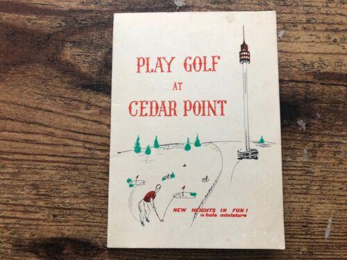 Vintage CEDAR POINT Play Golf Scorecard 1960s MINIATURE Lake Erie Amusement Park