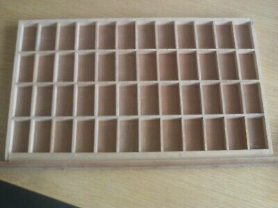 Original, vintage wooden, letterpress  printers tray15.5 x 9.75 inches Tray C