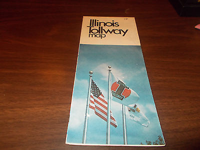 1978 Illinois Tollway Vintage Road Map And Brochure