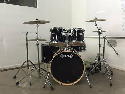 Mapex drums with Iron cobra double kick & Pearl Throne backrest Bowen Hills Brisbane North East Preview