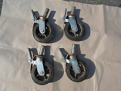 Set Of 4 Hd Industrial Locking Scaffold Casters With 8x2 Caster Wheel