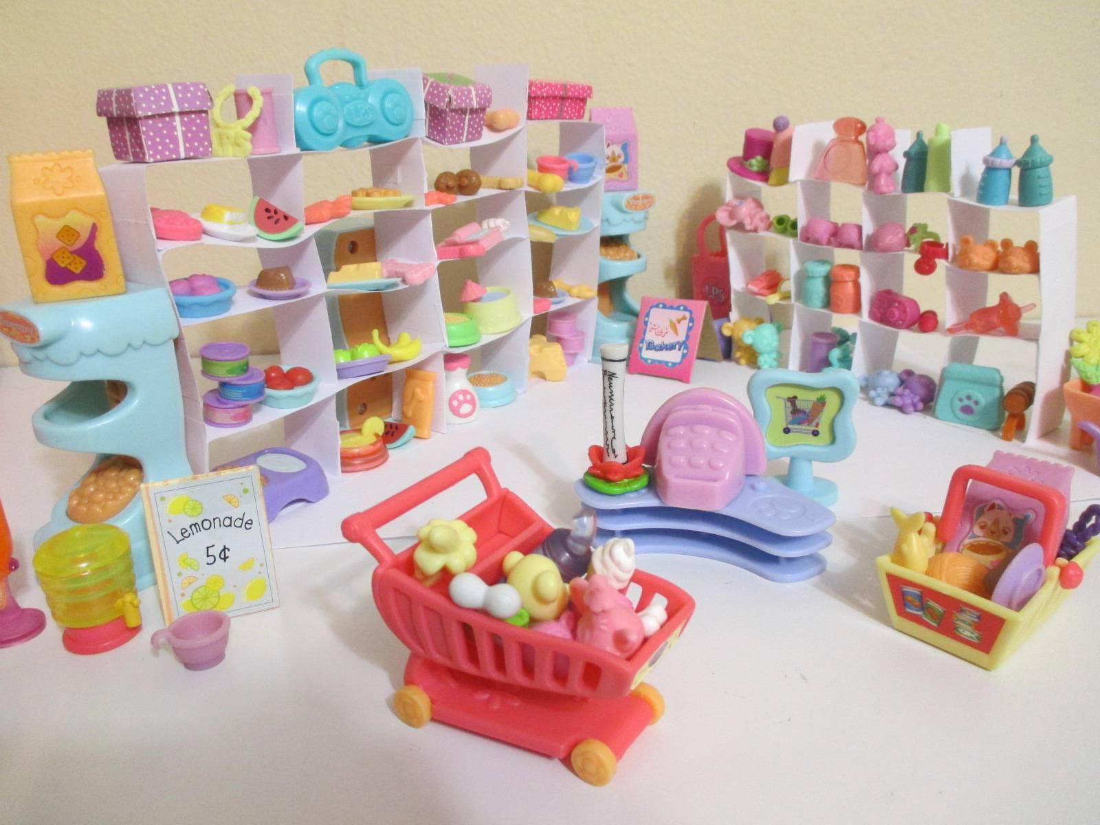 Littlest Pet Shop Lot of 12 Random Surprise Grocery Shopping Food Accessories