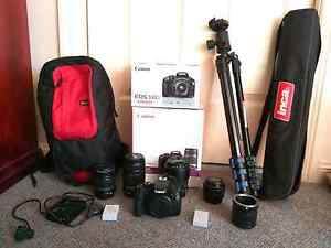 Canon 550D + 4 lenses + Tripod + Bag + MORE Menai Sutherland Area Preview