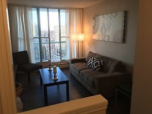 Fully furnished downtown condo available immediately