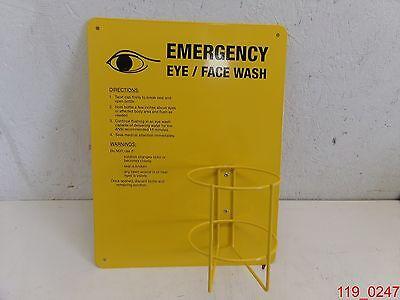 Ability One Eye Wash Station Sign Holds 32 Oz. Bottle
