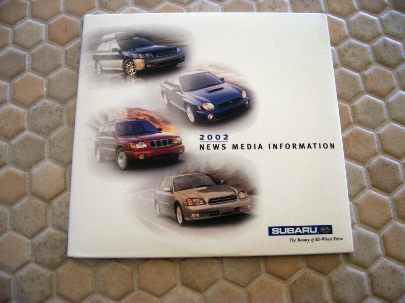 SUBARU OFFICIAL FORESTER BAJA LEGACY WRX PRESS CD BROCHURE 2002.