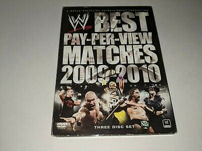 WWE BEST PAY PER VIEW PPV MATCHES OF 2009-2010 Wrestling 3-Disc DVD Set