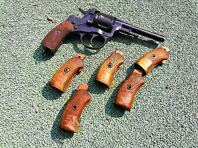 Original WWII Soviet M1895 Nagant Revolver wooden grips, 1939-1945 production! for sale  Shipping to United States