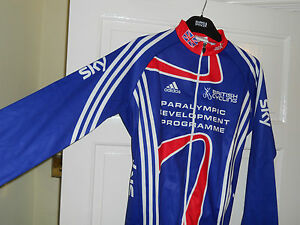NEW-Team-GB-SKY-2012-PDP-Rider-Issue-cycling-bike-LS-shirt-jersey-Adidas