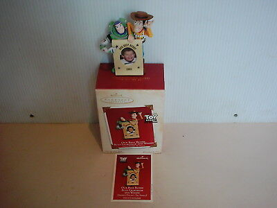 Toy Story Hallmark Buzz & Woody Our Best Buddy Christmas Ornament 2003