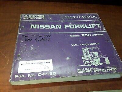 Nissan Parts Catalog Model Fo3 Series