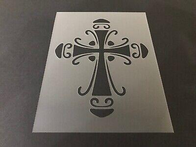 Cross #2 Stencil 10mm or 7mm Thick, Church, Jesus, Tattoo, Tribal, Art
