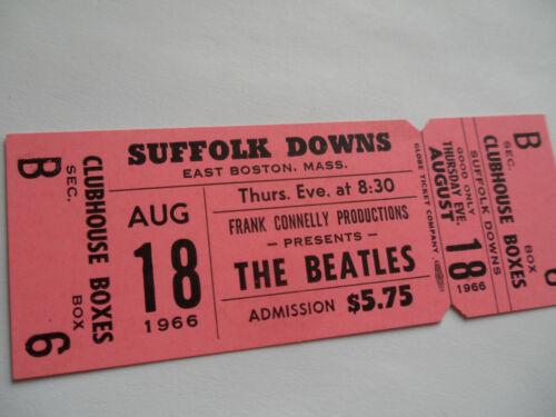THE BEATLES 1966 Original__UNUSED__***PINK***__Suffolk Downs ***RARE***__EX++