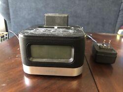 iHome iPL8 Stereo FM Clock Radio with Lightning Dock for iPhone/iPod - Black