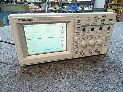 Tektronix Tds 210 60 Mhz 1 Gss Digital 2-channel Oscilloscope Missing 4 Knobs