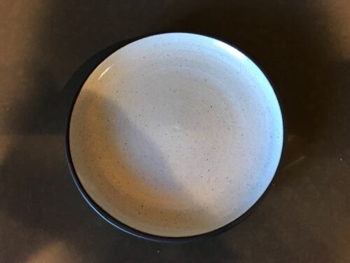 """Zaalberg Holland Modernist Pottery 8""""  PLATE MCM Brown white Clay & Fire 1958"""