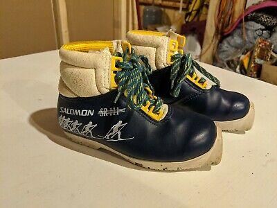 Salomon Kids Nordic Ski Boots SR 111 Cross Country EU Size 31 SNS