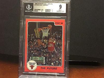 Michael Jordan 1986 Star Card #10 The Future BGS Graded 9  (9.5 SUB) Mint!