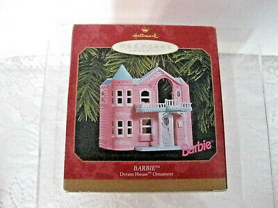 Hallmark Barbie Dream House Pink Doll House Ornament Vintage 1999 NEW #ob3