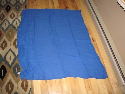 Royal Blue Receiving Blanket - YOGA SPROUT BABY BLANKET BOY ROYAL BLUE COTTON MUSLIN SWADDLE RECEIVING