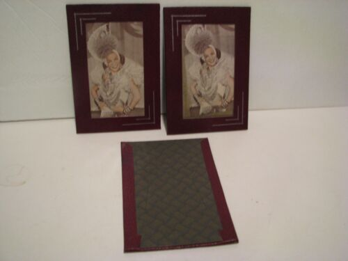 Vintage   Leather Photo Frame CARMEN MIRANDA ?  LOT OF 3    6 1/2  X  4 1/2