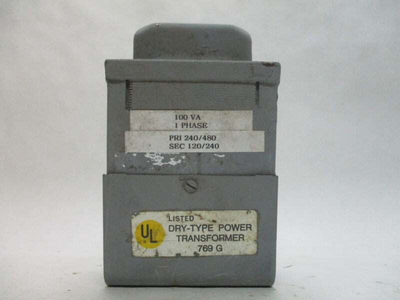 Dry-Type 1-Phase Power Transformer 769 G 100VA 240/480V PRI 120/240V SEC.