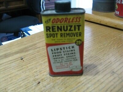 vintage Renuzit Spot Remover metal can marked 29 cents